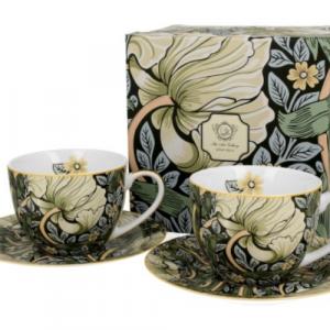 William Morris zöld porceláncsésze és alj