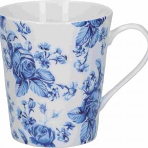 Blue Flowers Porcelánbögre 330ml
