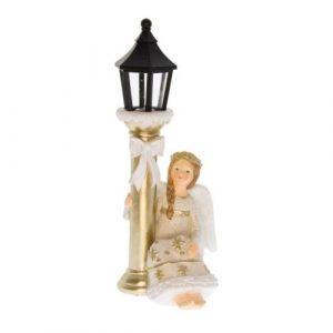 Angyalka kandelláberrel, LED-es világítással