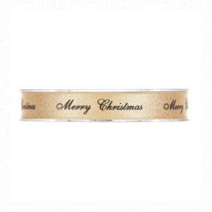 Arany Merry Christmas szalag 20m
