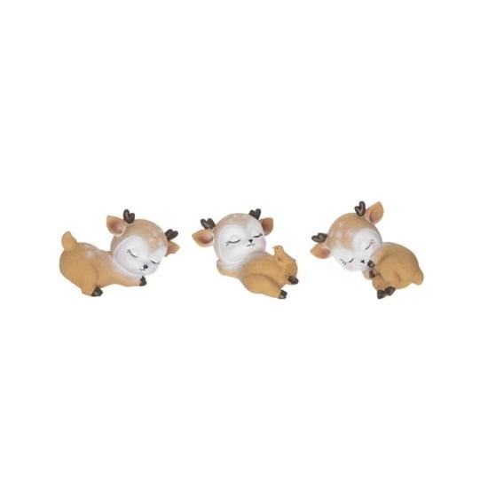 Bájos alvó szarvasok 3 darabos