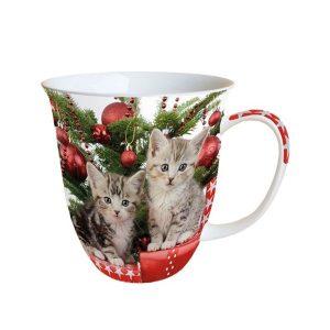 Christmas Kitten porcelánbögre 0.4L