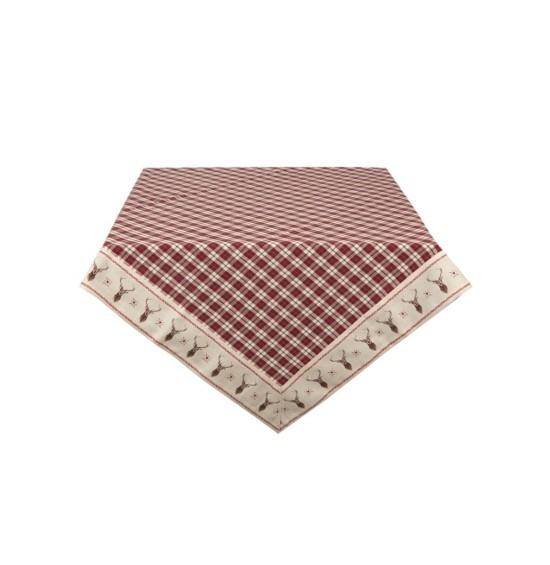Cosy Lodge pamut asztalterítő 150x150 cm