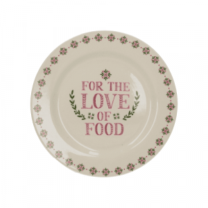 For the love of Food kerámia desszerttányér