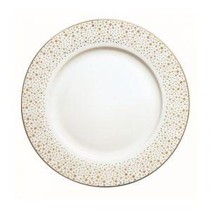 Golden Christmas porcelán lapostányér