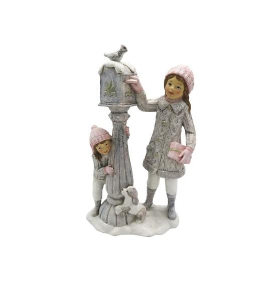 Gyerekek postaládával 13x7x22cm