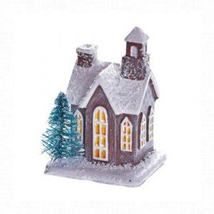Házikó fenyővel 5x4 cm