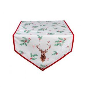 Holly Christmas II pamut asztali futó 50x140 cm