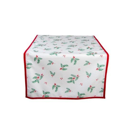 Holly Christmas pamut asztali futó 50x140 cm