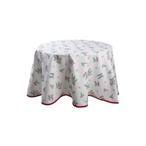 Holly Christmas pamut asztalterítő 170 cm
