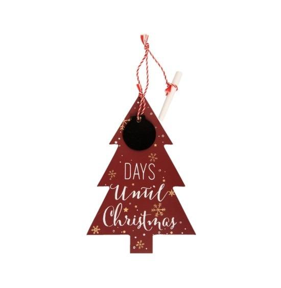 Karácsonyfa függődísz krétával