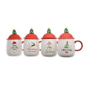 Karácsonyi bögre tetővel 4 féle típusban