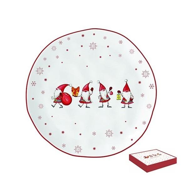 Karácsonyi manók Porcelán desszerttányér 21cm