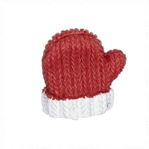 Karácsonyi piros kesztyű 6 darabos
