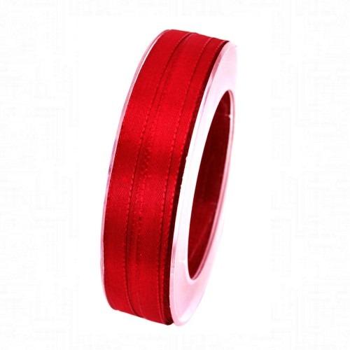 Karácsonyi szalag piros basic 50m