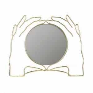 Kéz formájú asztali tükör