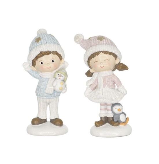 Kisfiú és kislány figura 2 darabos