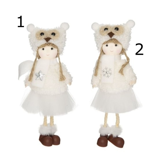 Kislány sapkában textilből 2 féle