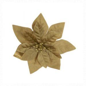 Mikulásvirág arany csipeszes 16 cm
