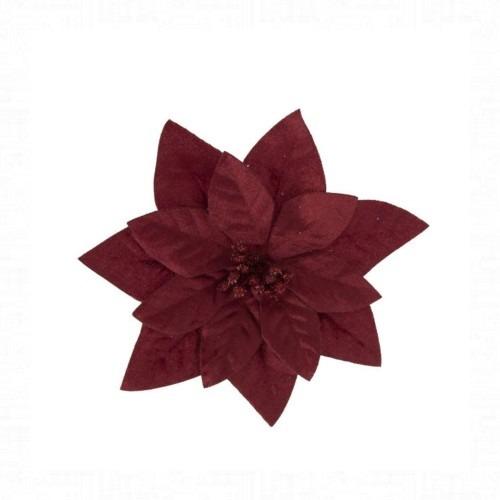 Mikulásvirág bordó csipeszes 16 cm