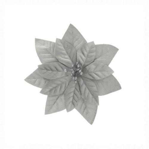 Mikulásvirág ezüst csipeszes 16 cm