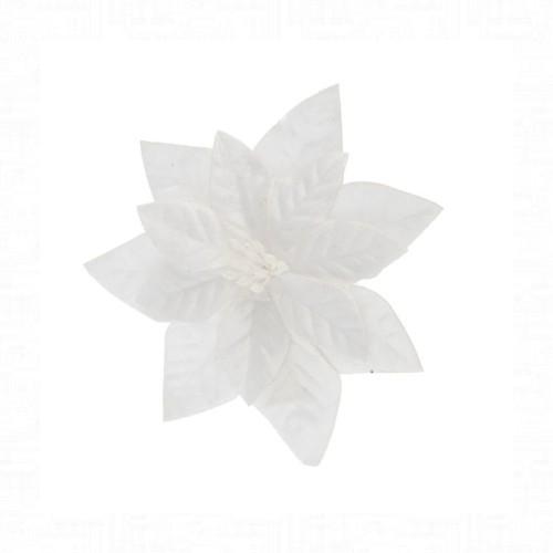 Mikulásvirág fehér csipeszes 16 cm