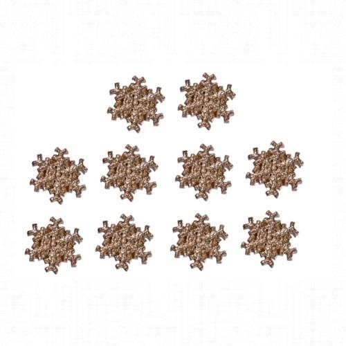 Öntapadós arany hópehely 10 darabos
