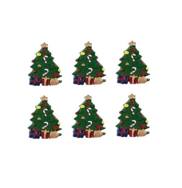 Öntapadós karácsonyfa 6 darabos