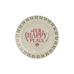 Our Happy Place kerámia desszerttányér