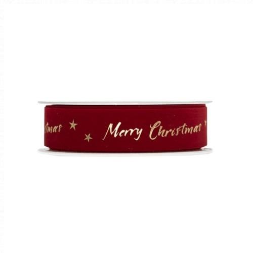 Piros Merry Christmas szalag 20m