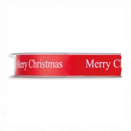 Piros- fehér Merry Christmas szalag 45m