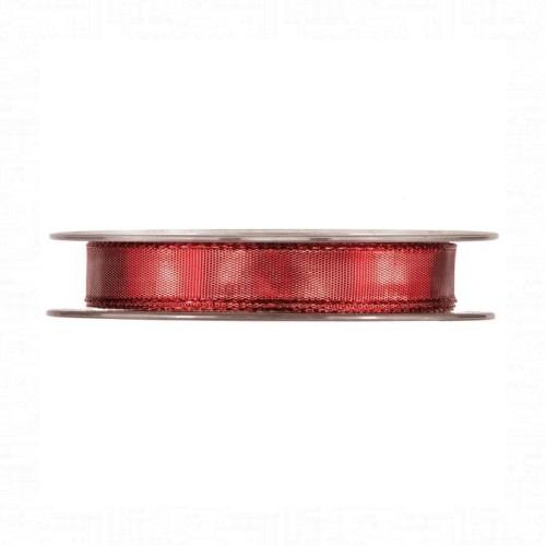 Piros fényes szalag 20m
