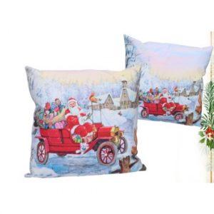 Santa Claus párnahuzat 45x45 cm