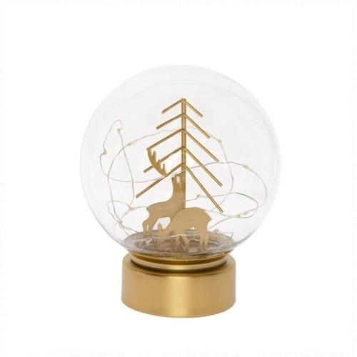Üveggömb szarvassal és LED-es világítással