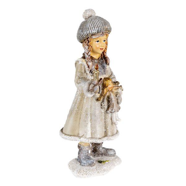 Vintage kislány gyertyával és babával II