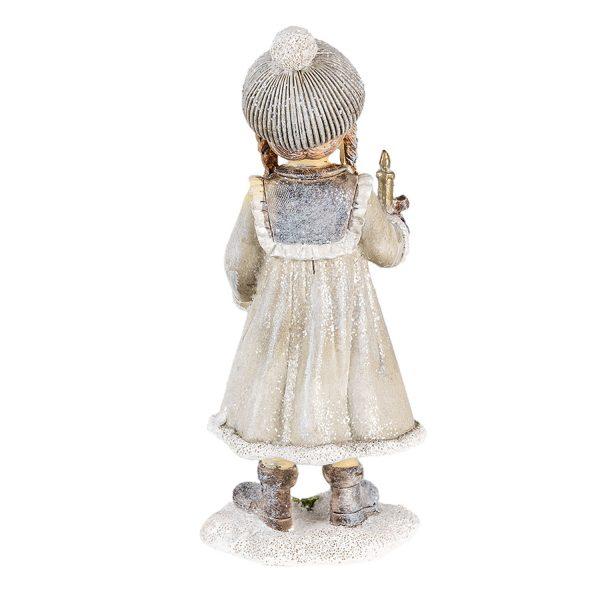 Vintage kislány gyertyával és babával III