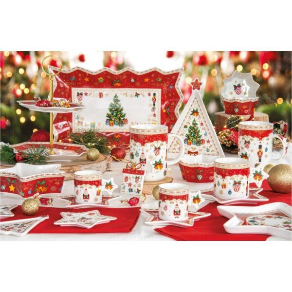 Christmas Ornaments porcelán szett