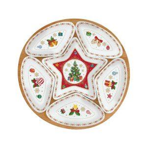 Christmas Ornaments porcelán tálkaszett 6db